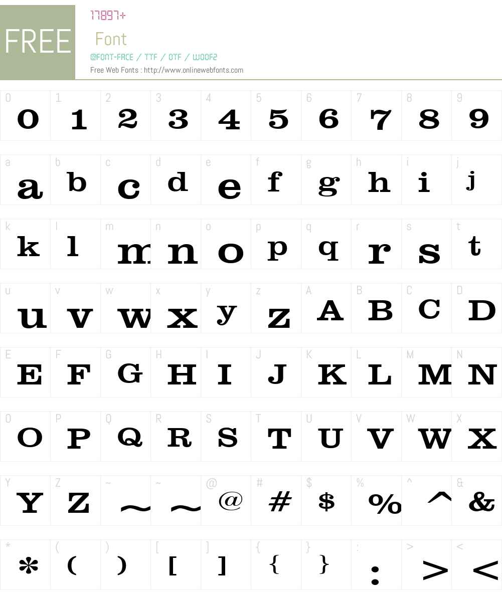 Clare Wide Font Screenshots
