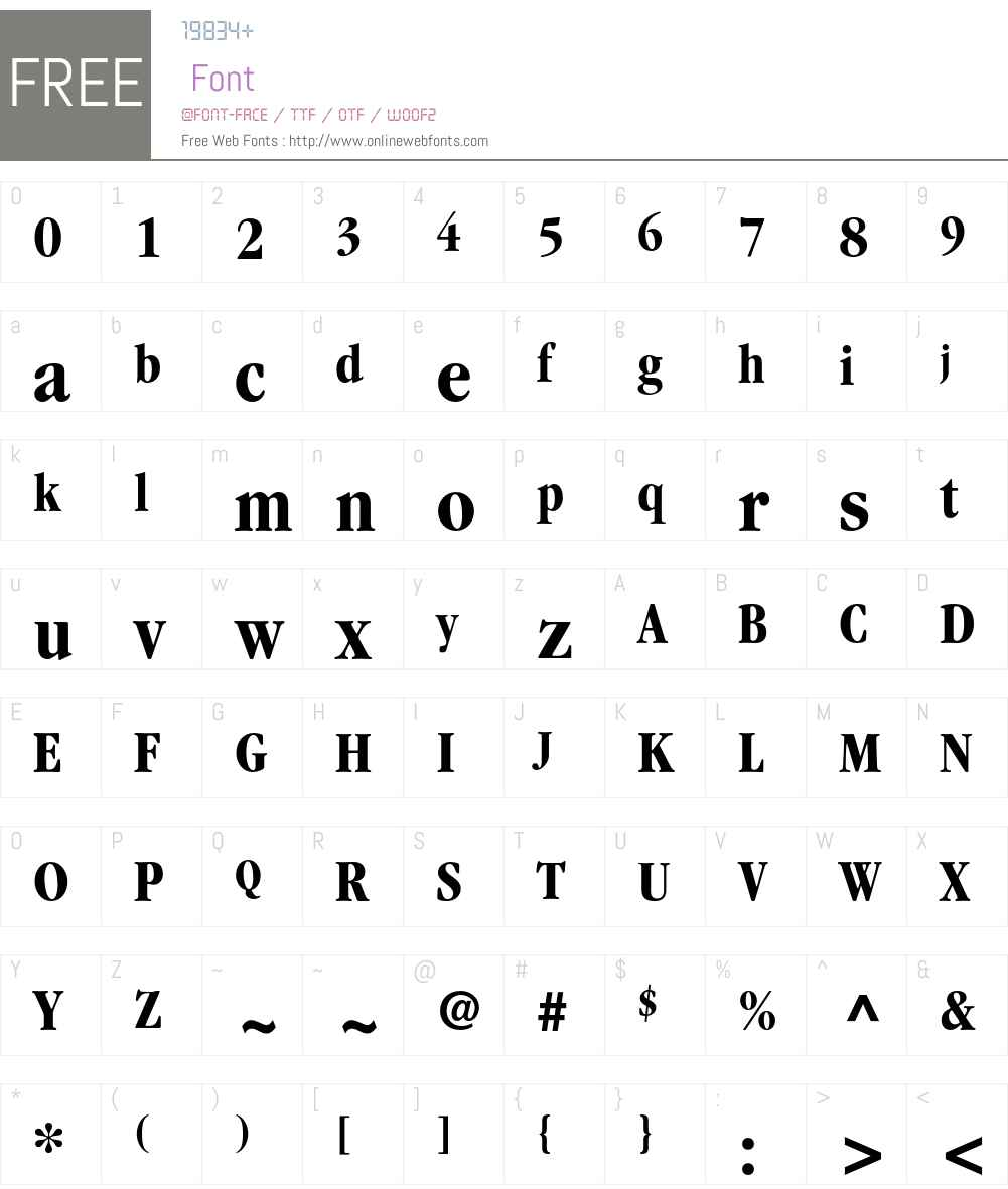 ITC Garamond LT Font Screenshots
