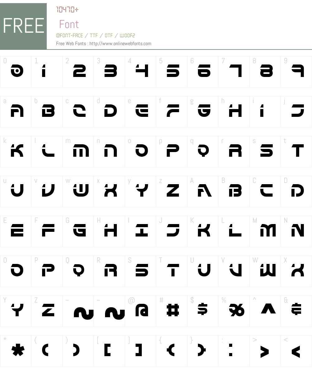 Flipside BRK Font Screenshots