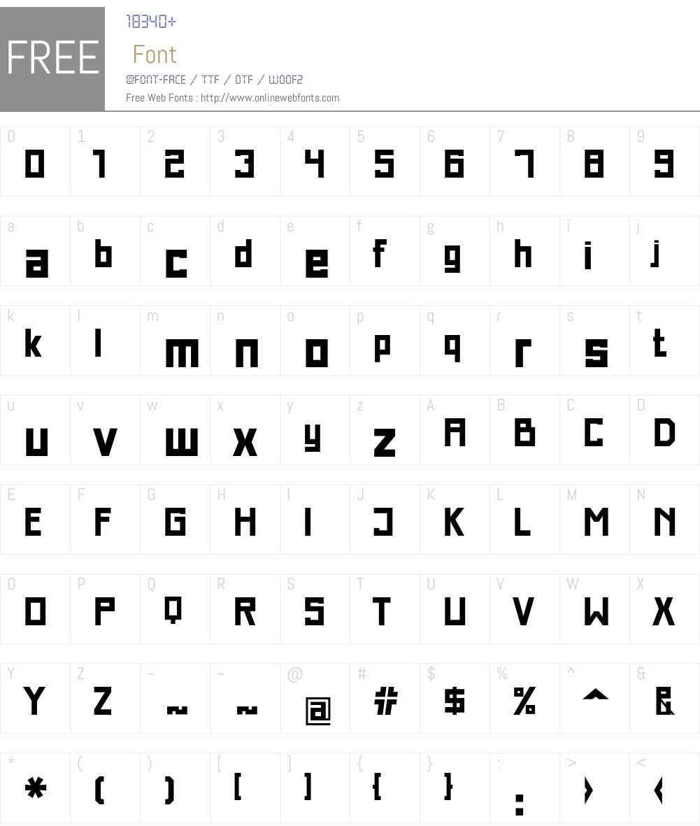 Just Square LT Std Cyrillic Font Screenshots