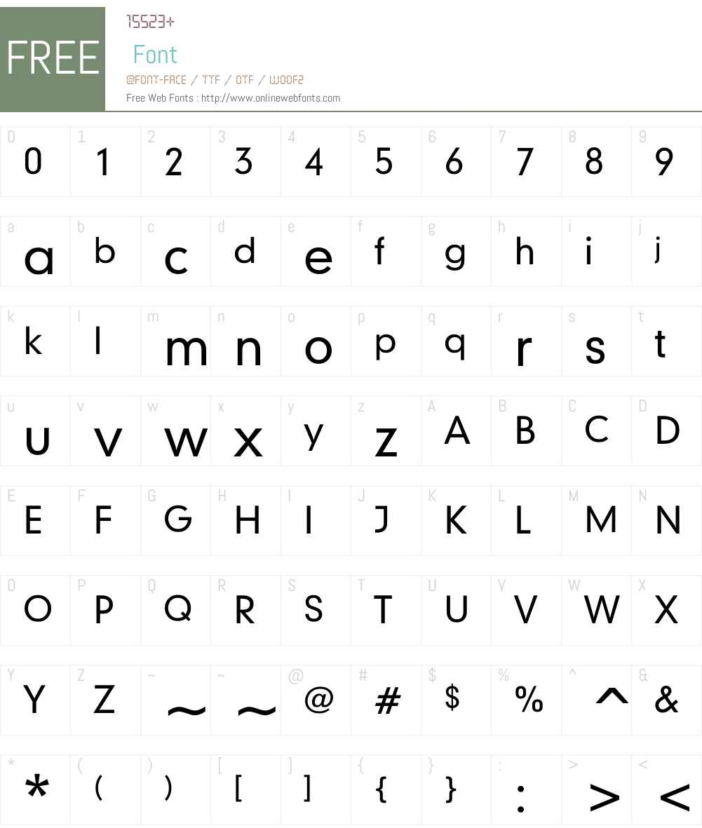 Shankbink Font Screenshots