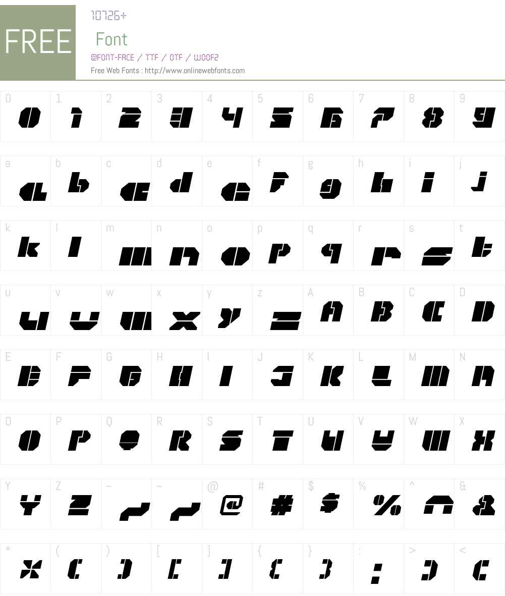 CorTenOpenW00-FatItalic Font Screenshots