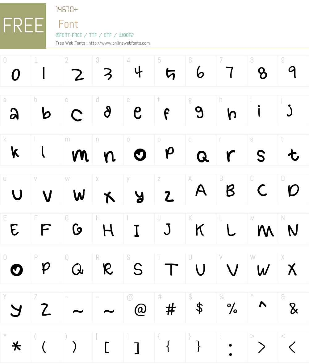 handy font 1 by OUBYC Font Screenshots