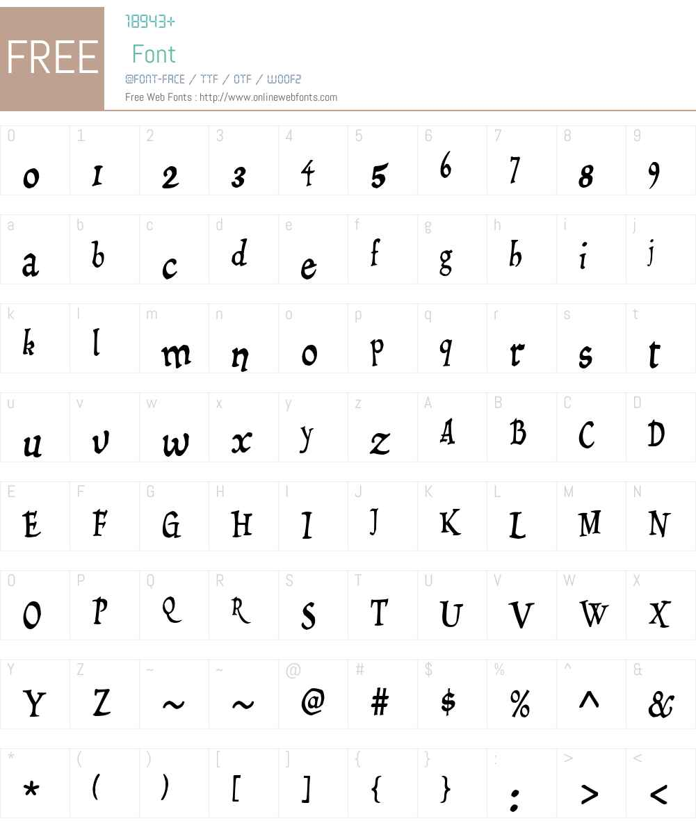 Draculon Font Screenshots