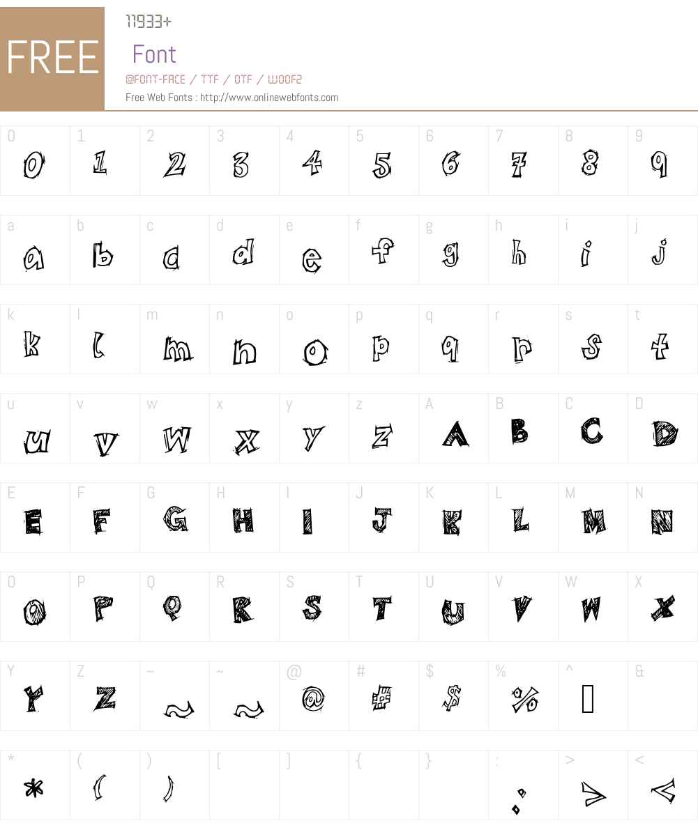 BistroSketch Font Screenshots
