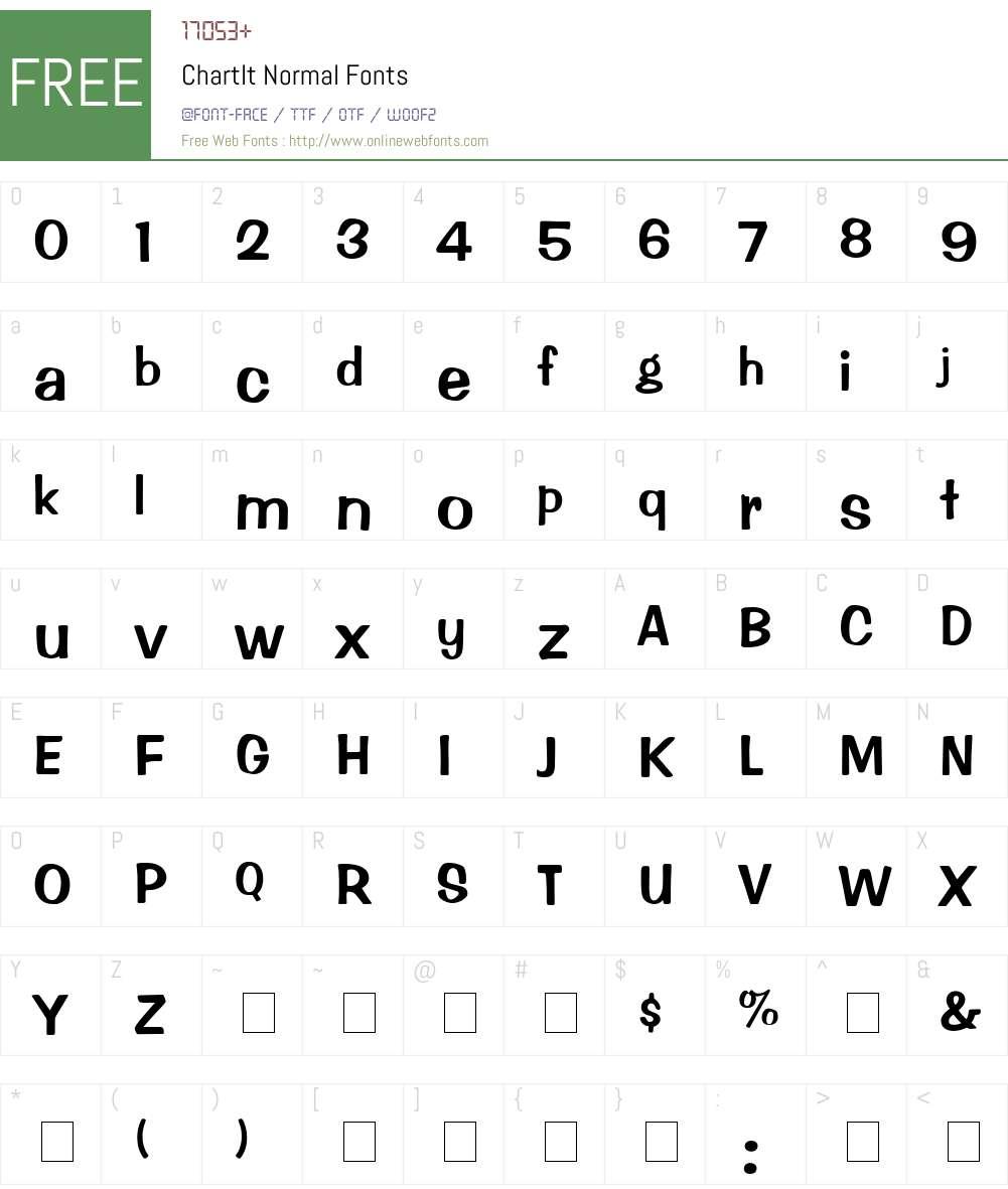 ChartIt Font Screenshots