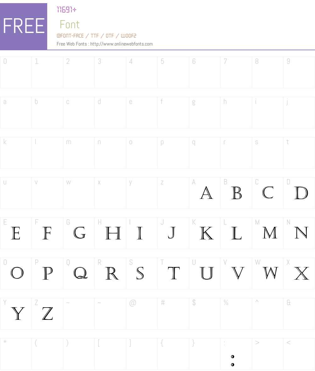 Kaste Font Screenshots