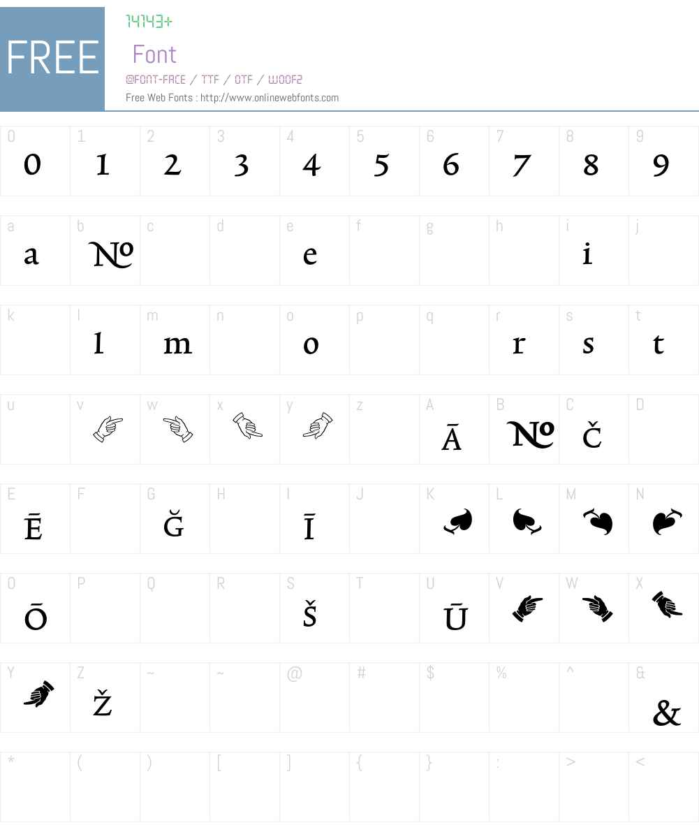 TriniteNo1 Font Screenshots