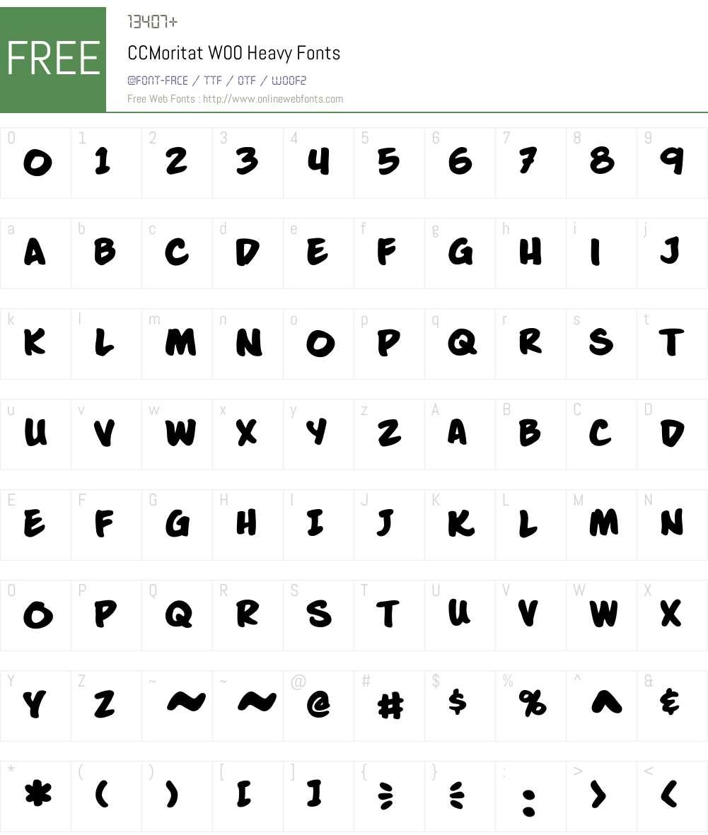 CCMoritatW00-Heavy Font Screenshots