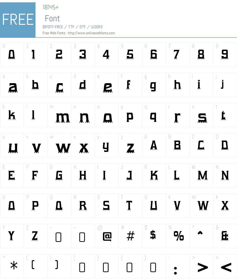 GumtuckeyW90-Regular Font Screenshots