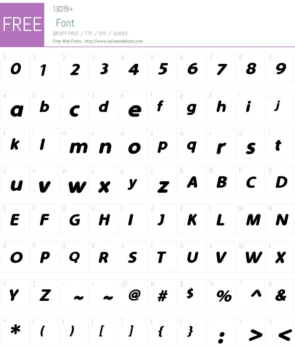 Simply Rounded Font Screenshots