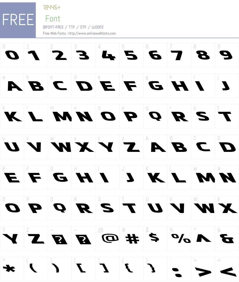 MetronicProWideW01-ReversoUlt Font Screenshots