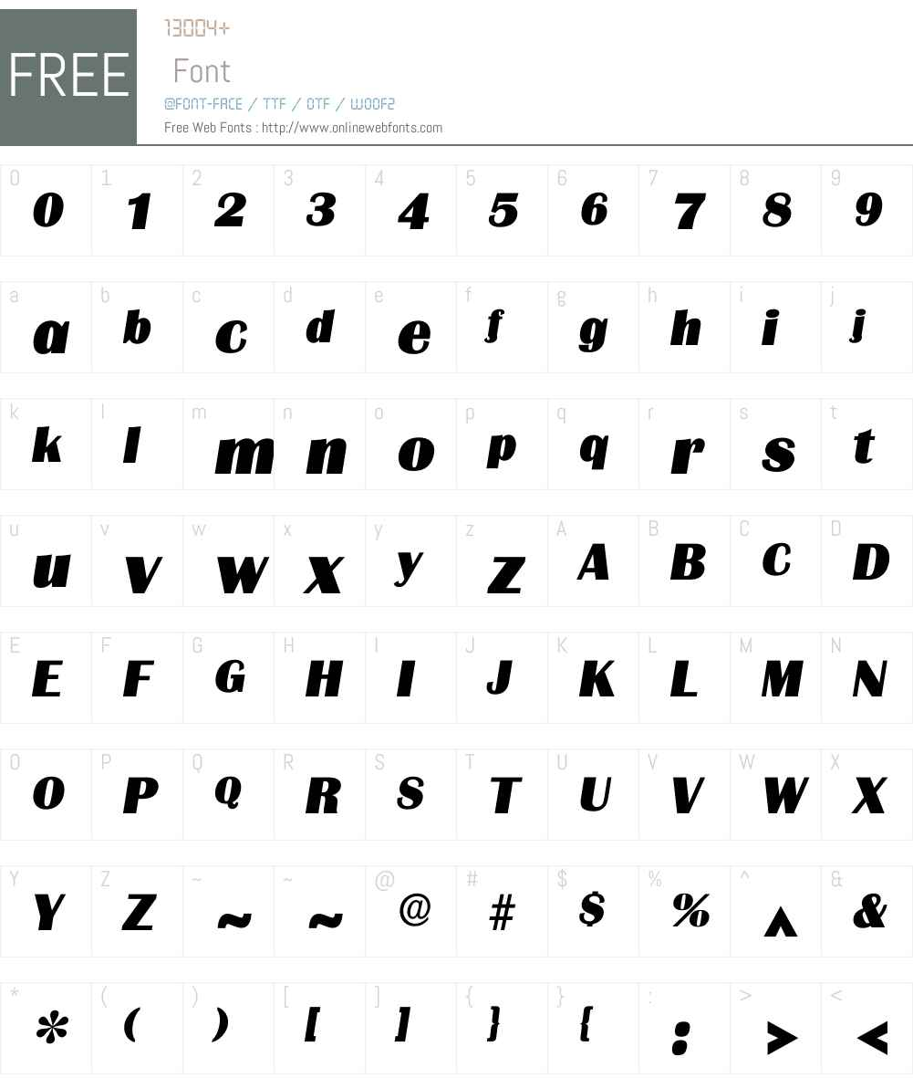 Igrenoble Font Screenshots