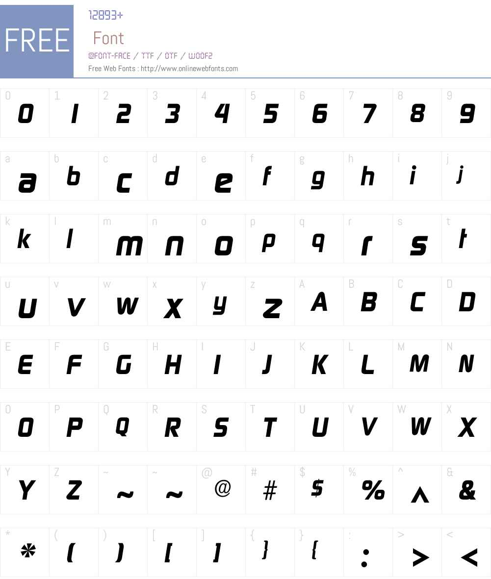 Idigital Font Screenshots