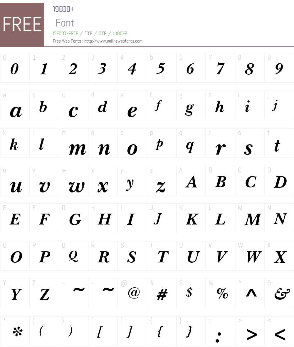 NewBaskervilleEF Font Screenshots