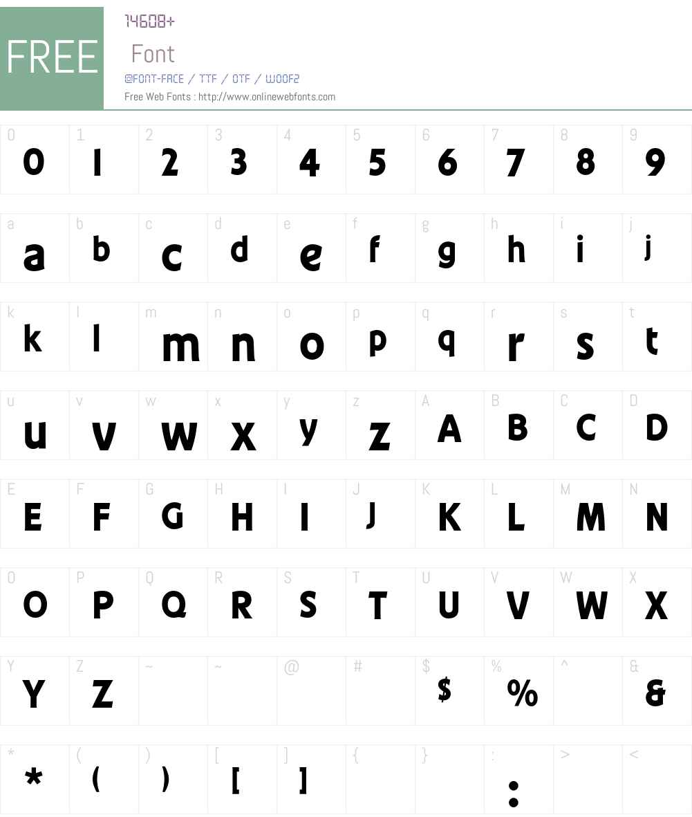 ConferenceEF Font Screenshots