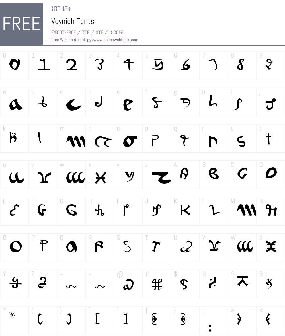 Voynich Font Screenshots