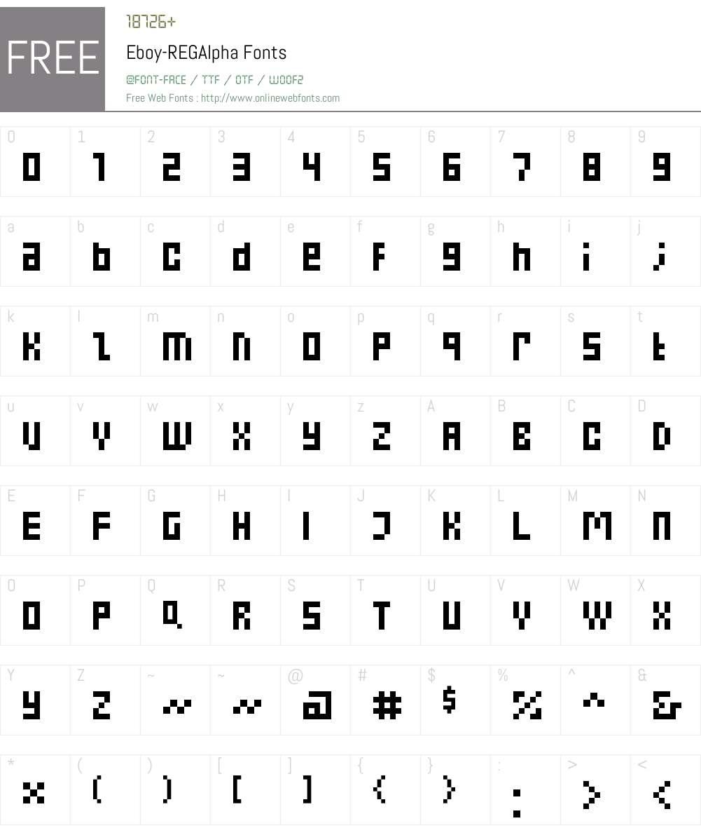 Eboy Font Screenshots