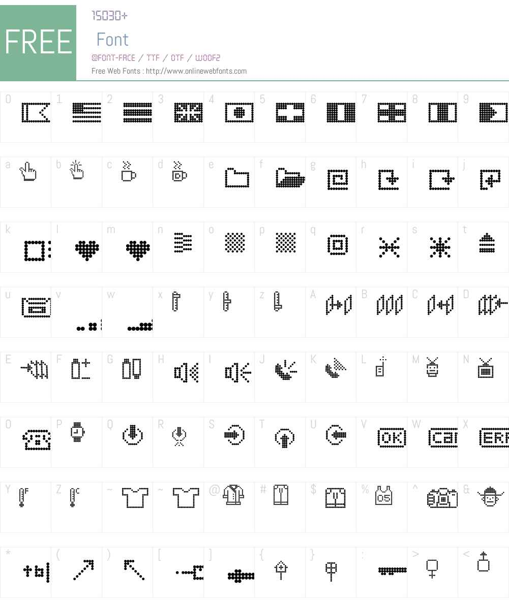 Dotto Font Screenshots