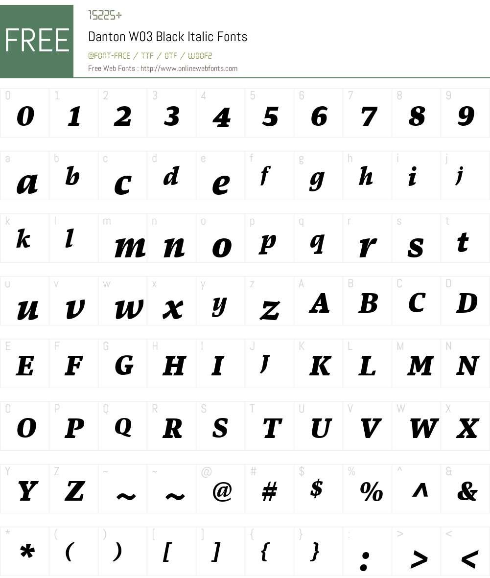 Danton Font Screenshots