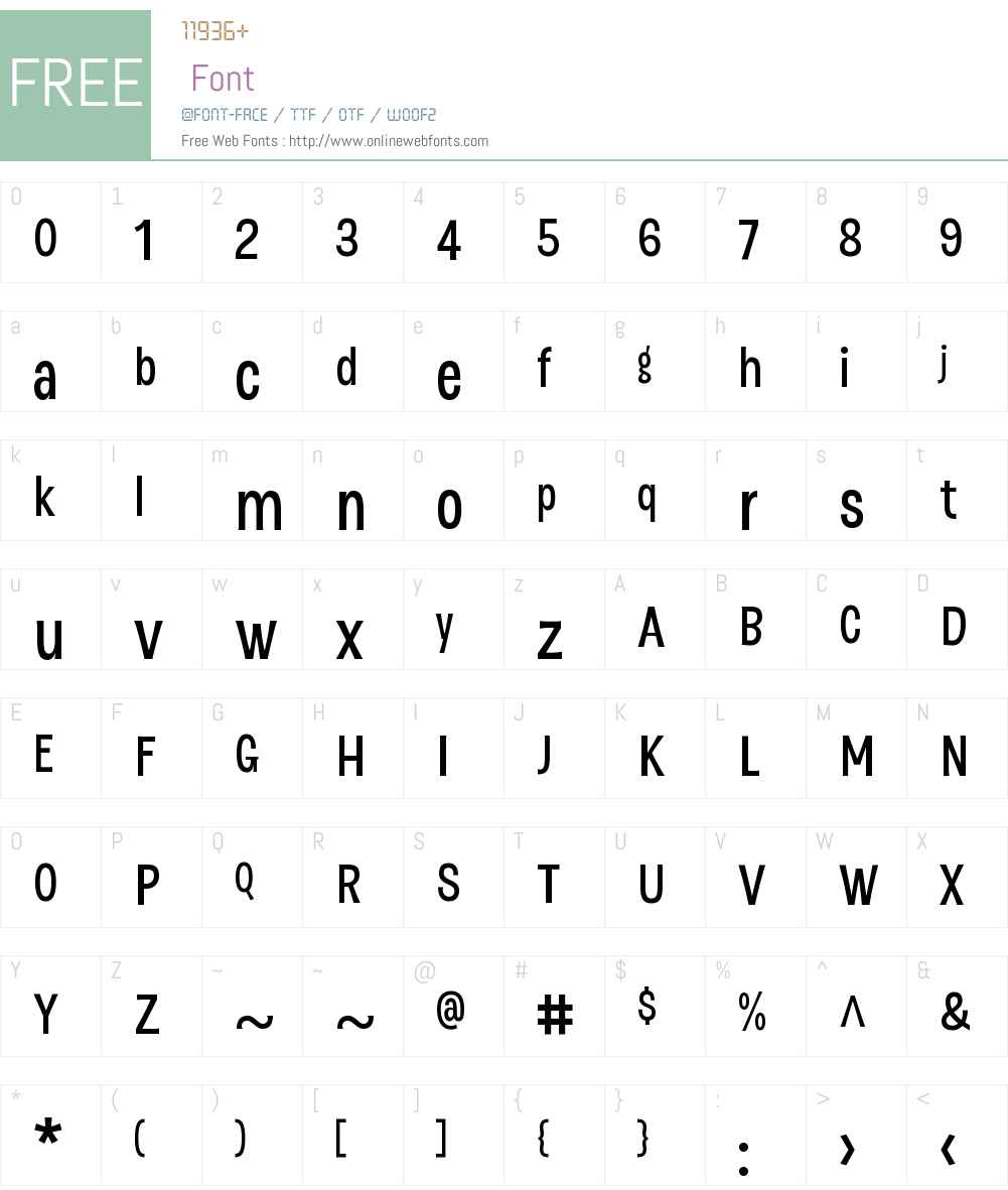 DSertW01-SemiBold Font Screenshots