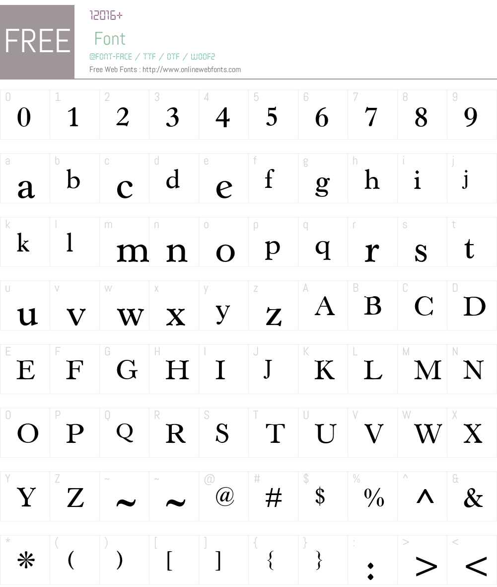 Horley Old Style MT Font Screenshots
