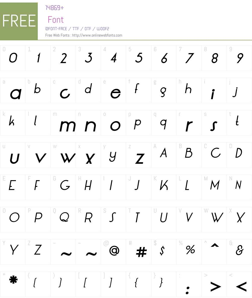 LT Oksana Medium Font Screenshots