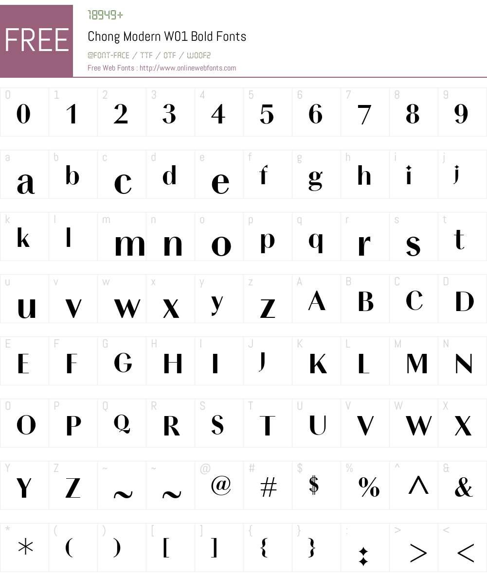 ChongModernW01-Bold Font Screenshots