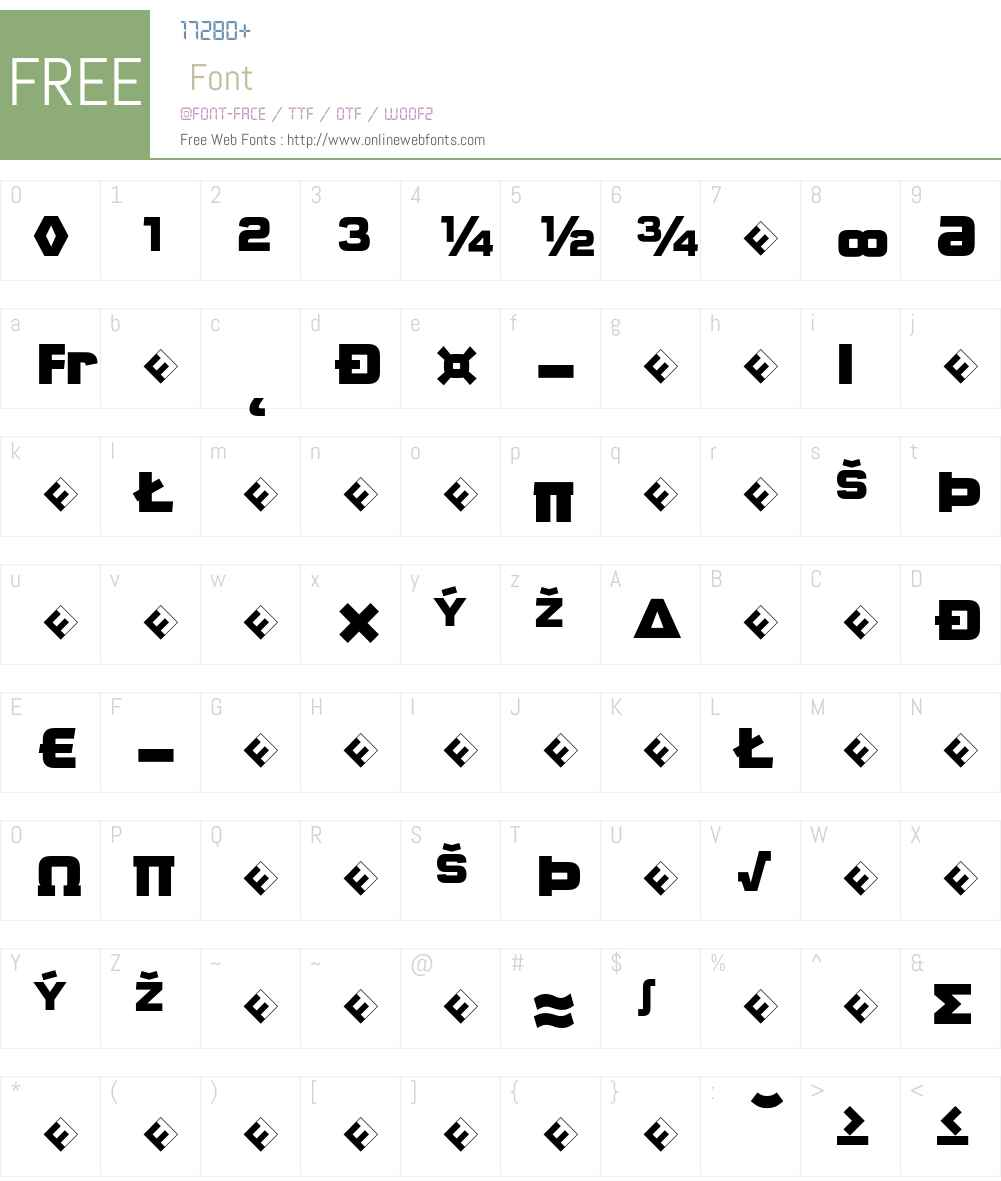 QTypeSquare-BlackMajusclesEp Font Screenshots