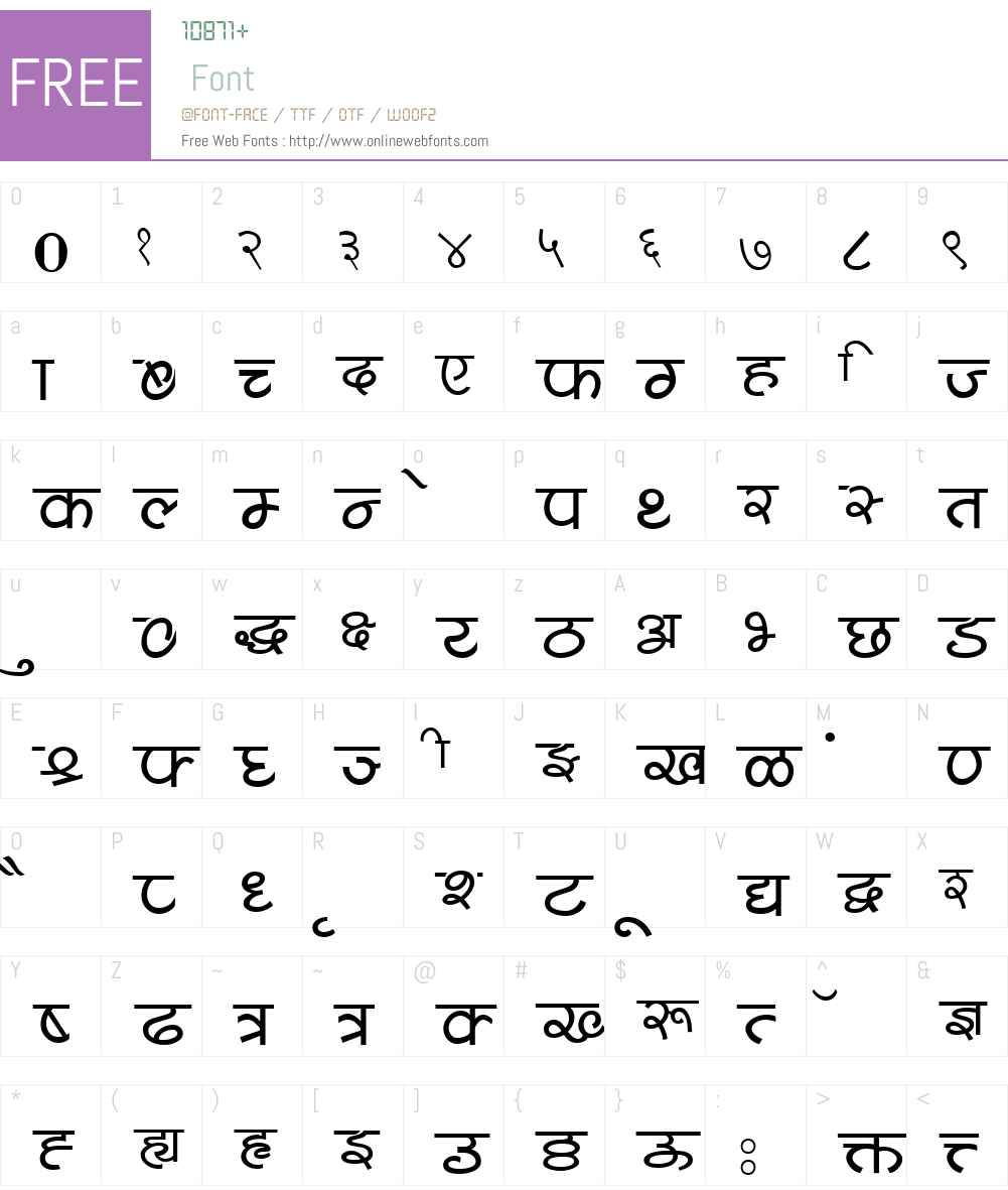 Shivaji05 Font Screenshots
