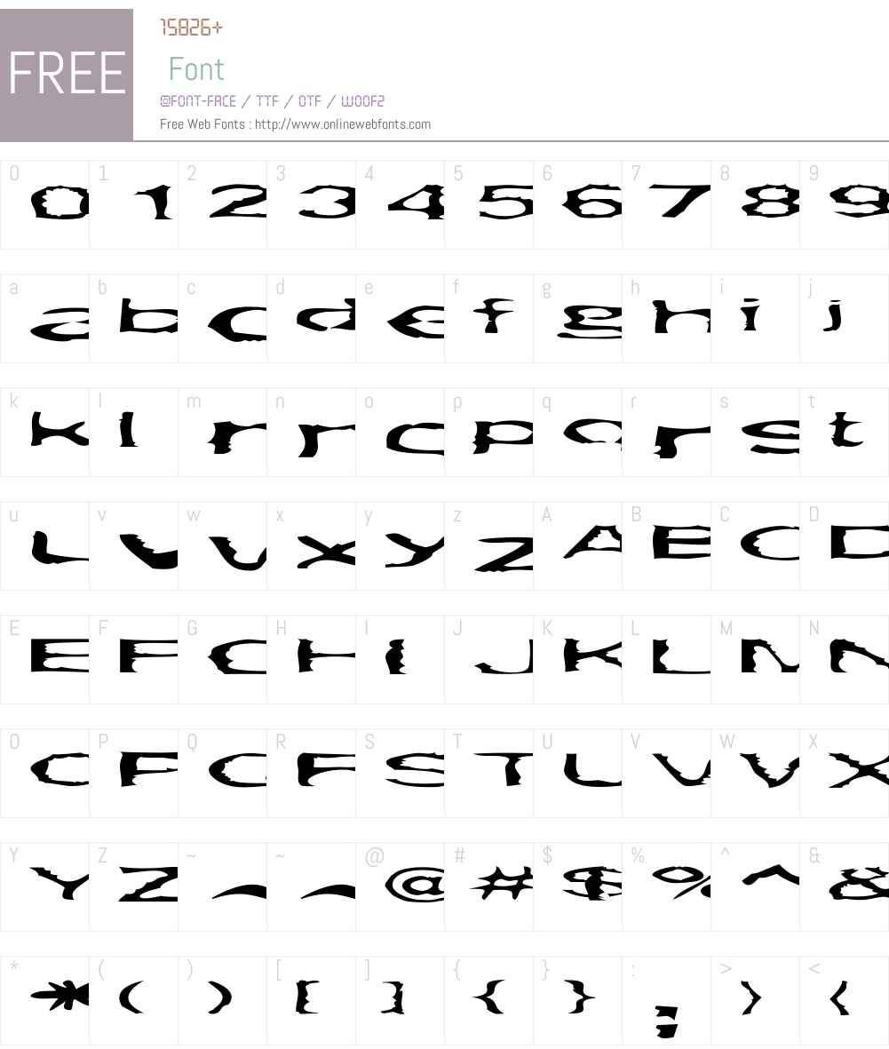 Gargantua Font Screenshots