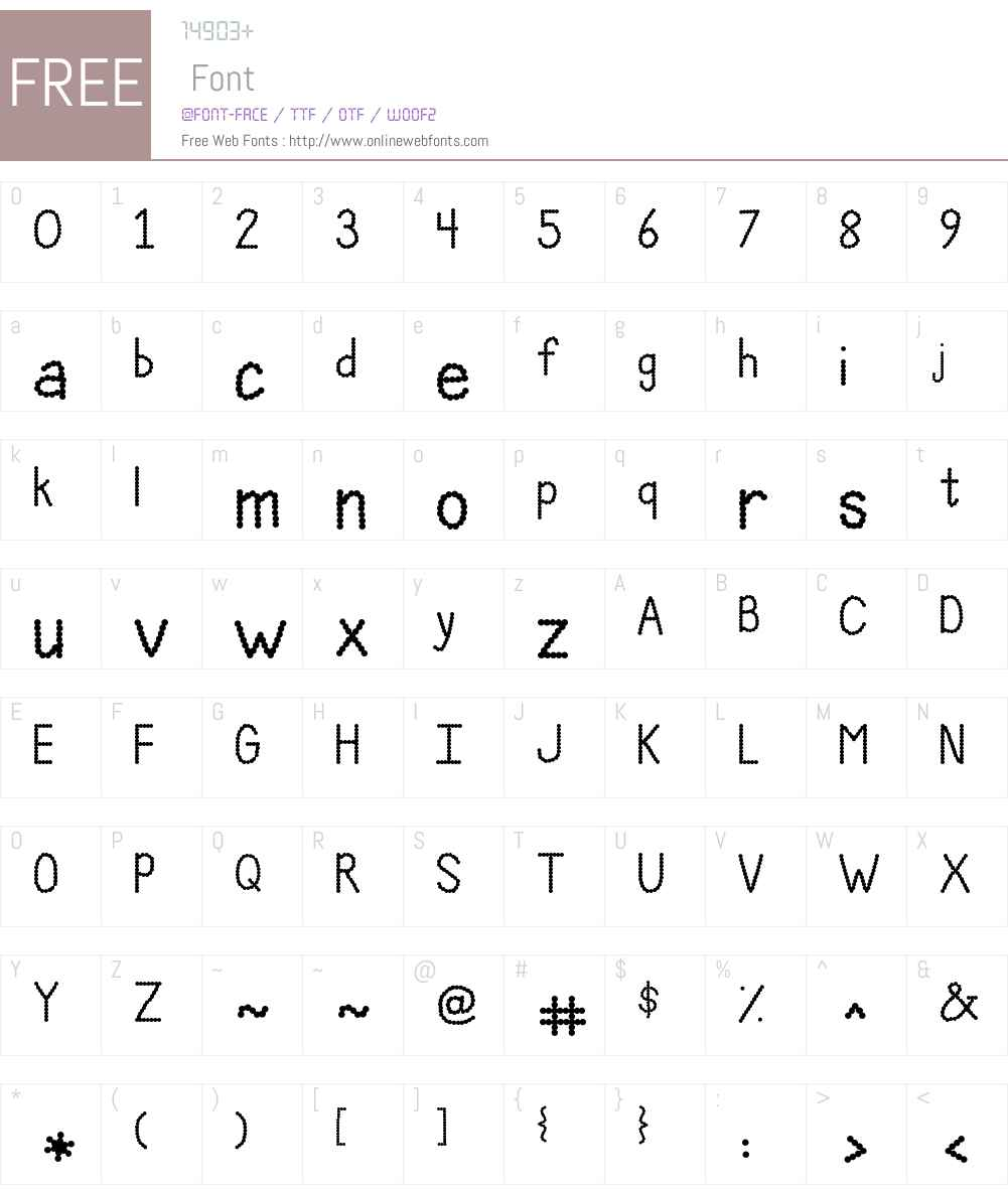 Janda Polkadot Party Font Screenshots
