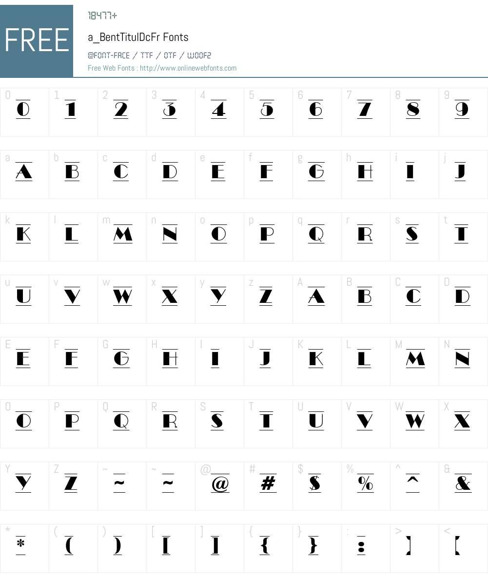a_BentTitulDcFr Font Screenshots