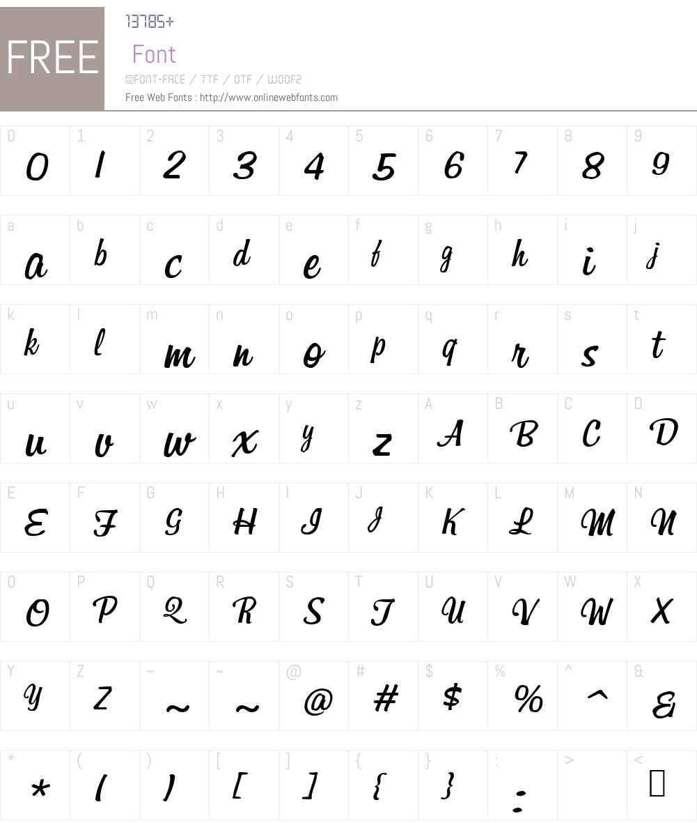 BillabongItalicW00-Regular Font Screenshots