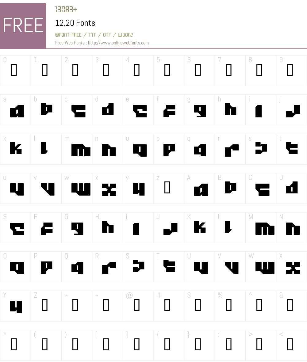 12.20 Font Screenshots