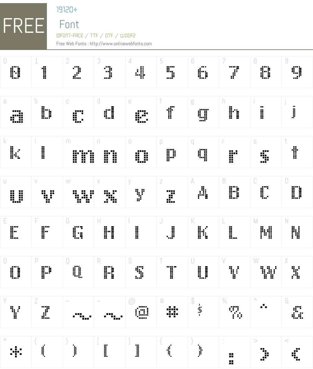 FreeDesign001Dotdot Font Screenshots