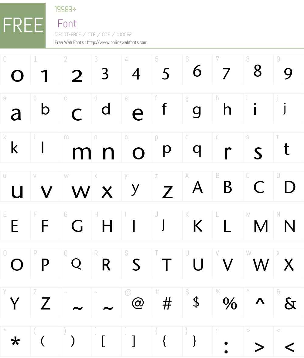 StoneSansOSITC Font Screenshots