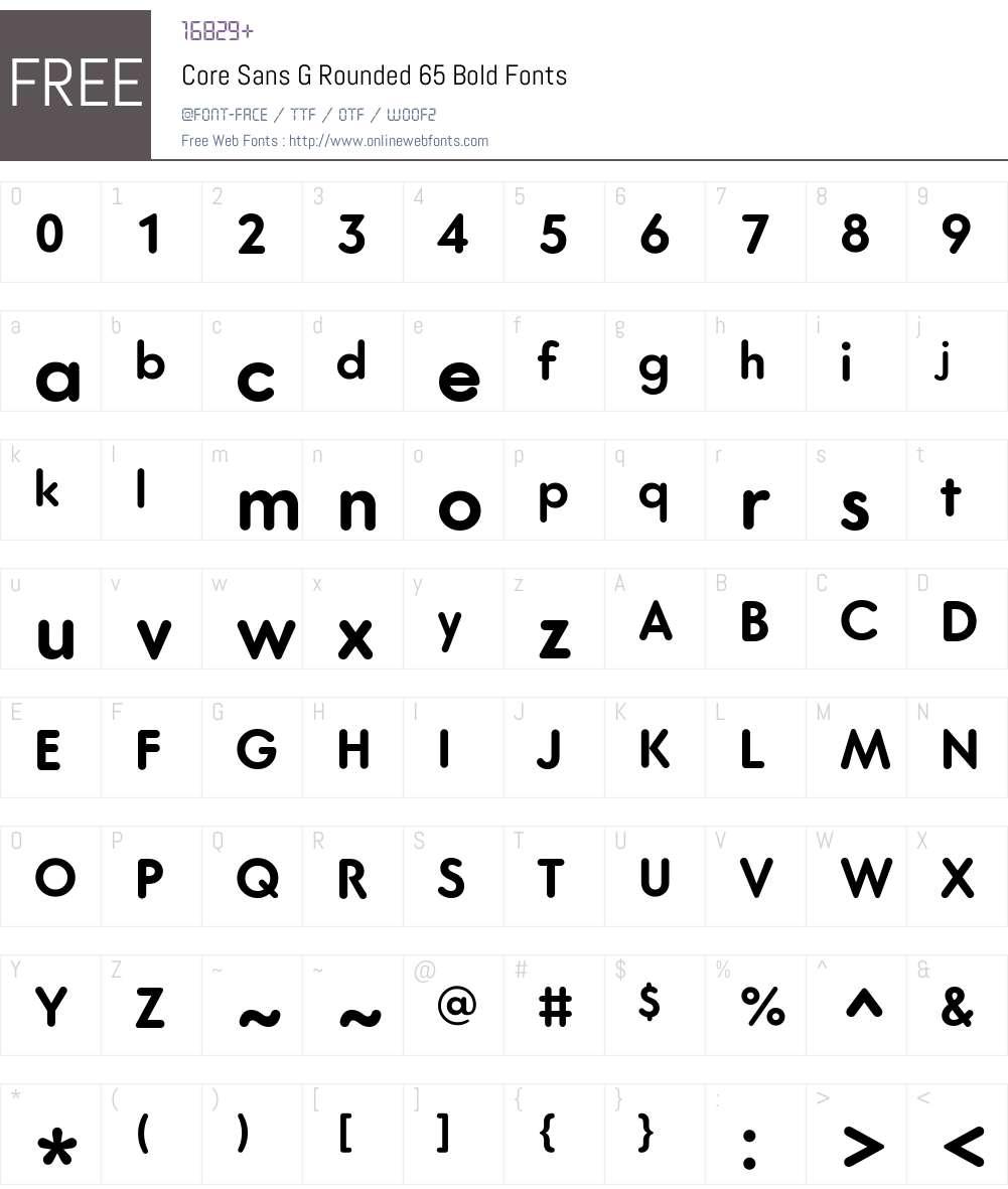 Core Sans G Rounded Font Screenshots