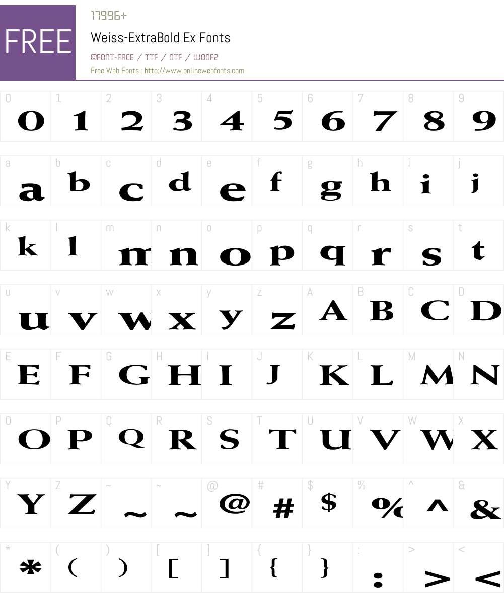 Weiss-ExtraBold Ex Font Screenshots