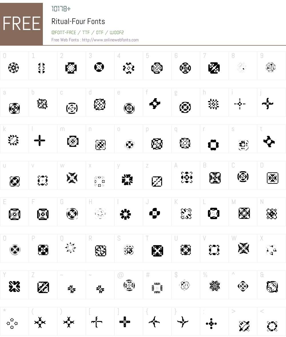 Ritual Font Screenshots