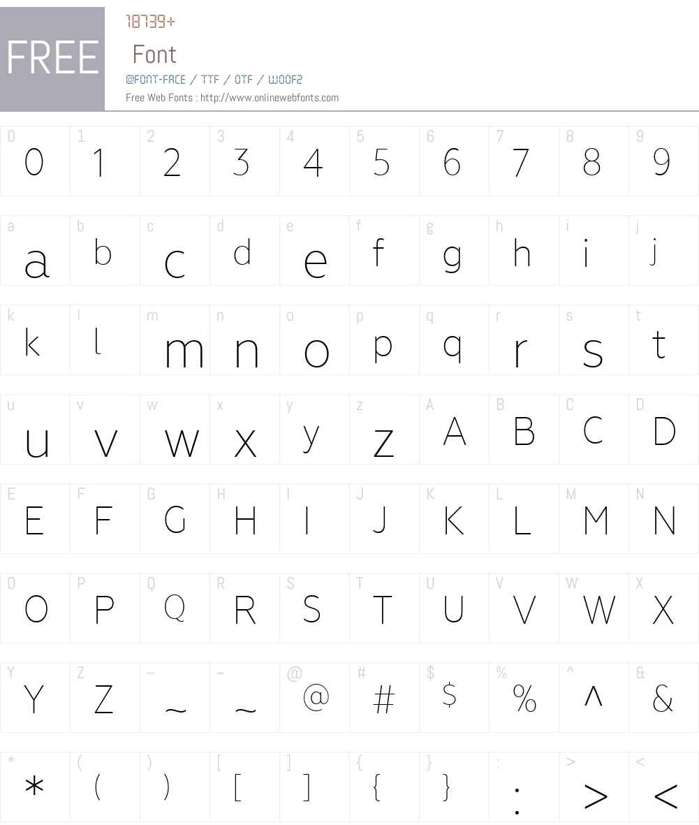 GeometriaNarrow-ExtraLight Font Screenshots