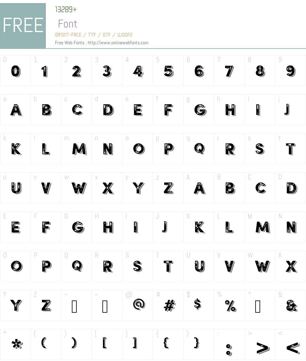 . Font Screenshots