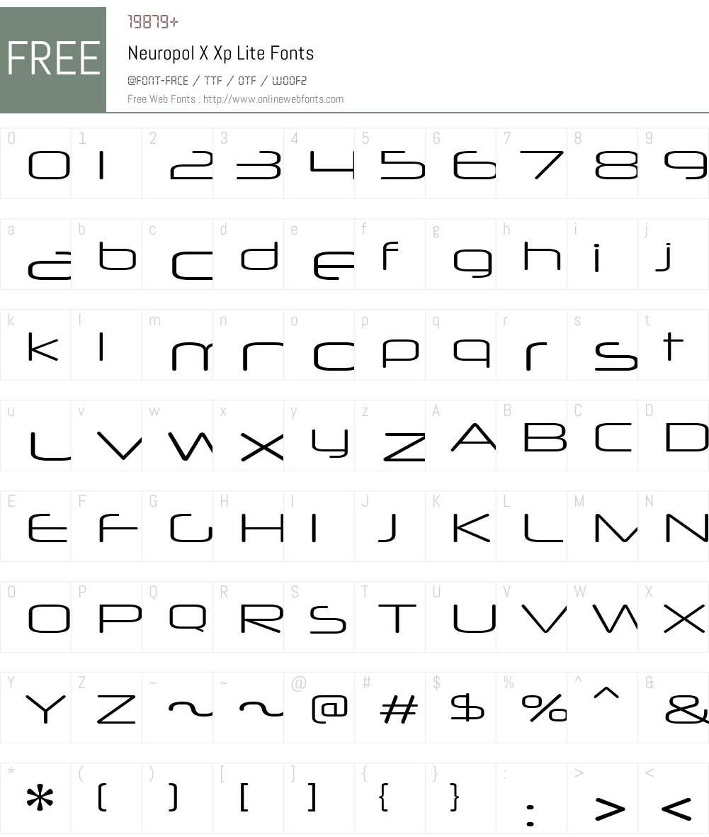 Neuropol X Xp Lite Font Screenshots