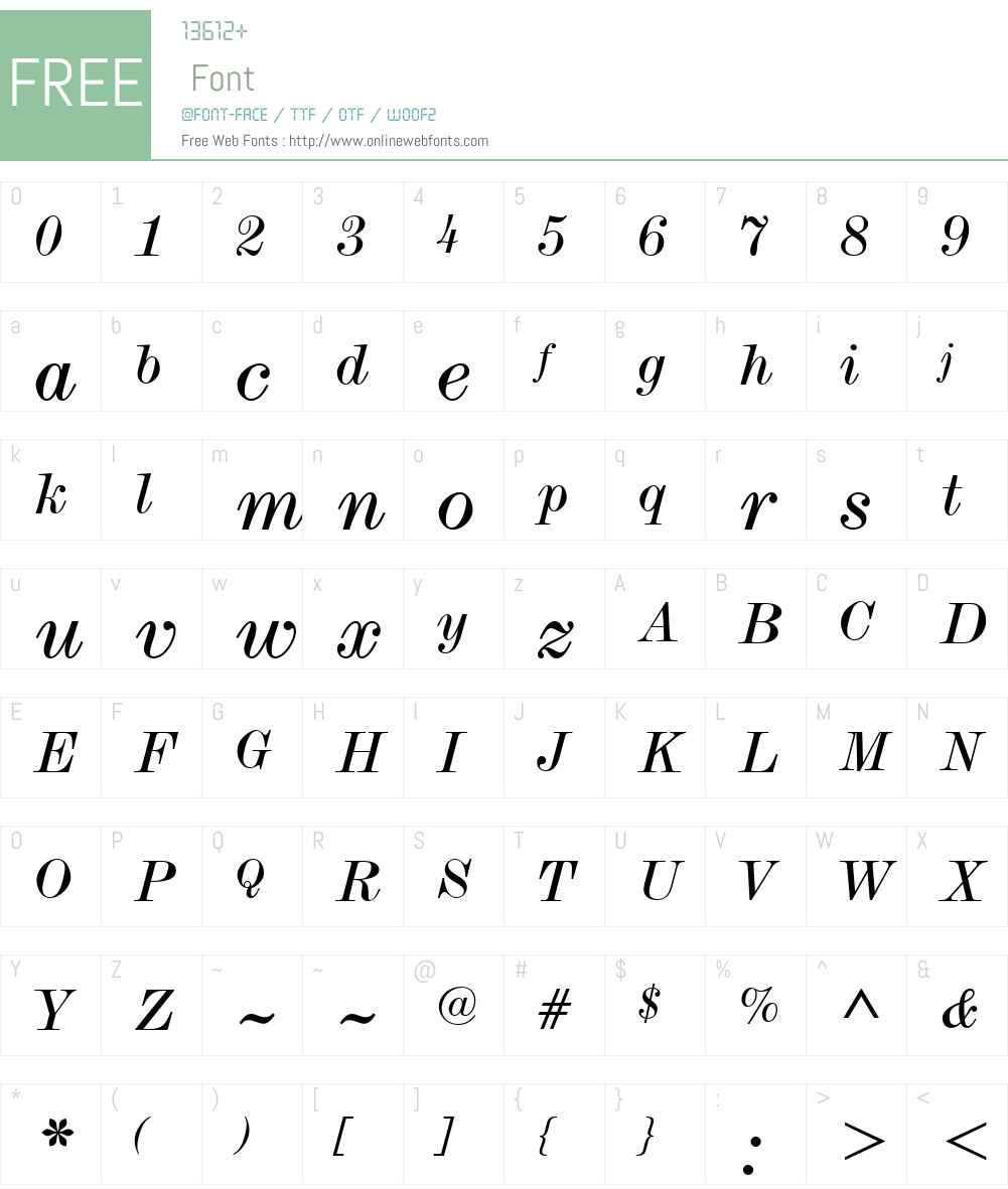 SaxW01-RegularItalic Font Screenshots