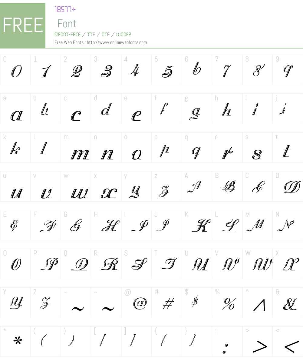 MadisonianEngravedW00-Rg Font Screenshots