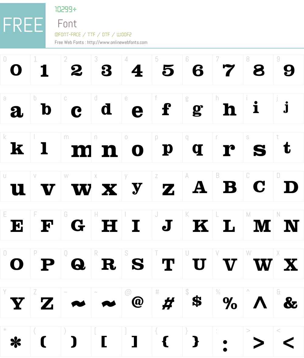 SquarendonW00-ExtraBold Font Screenshots