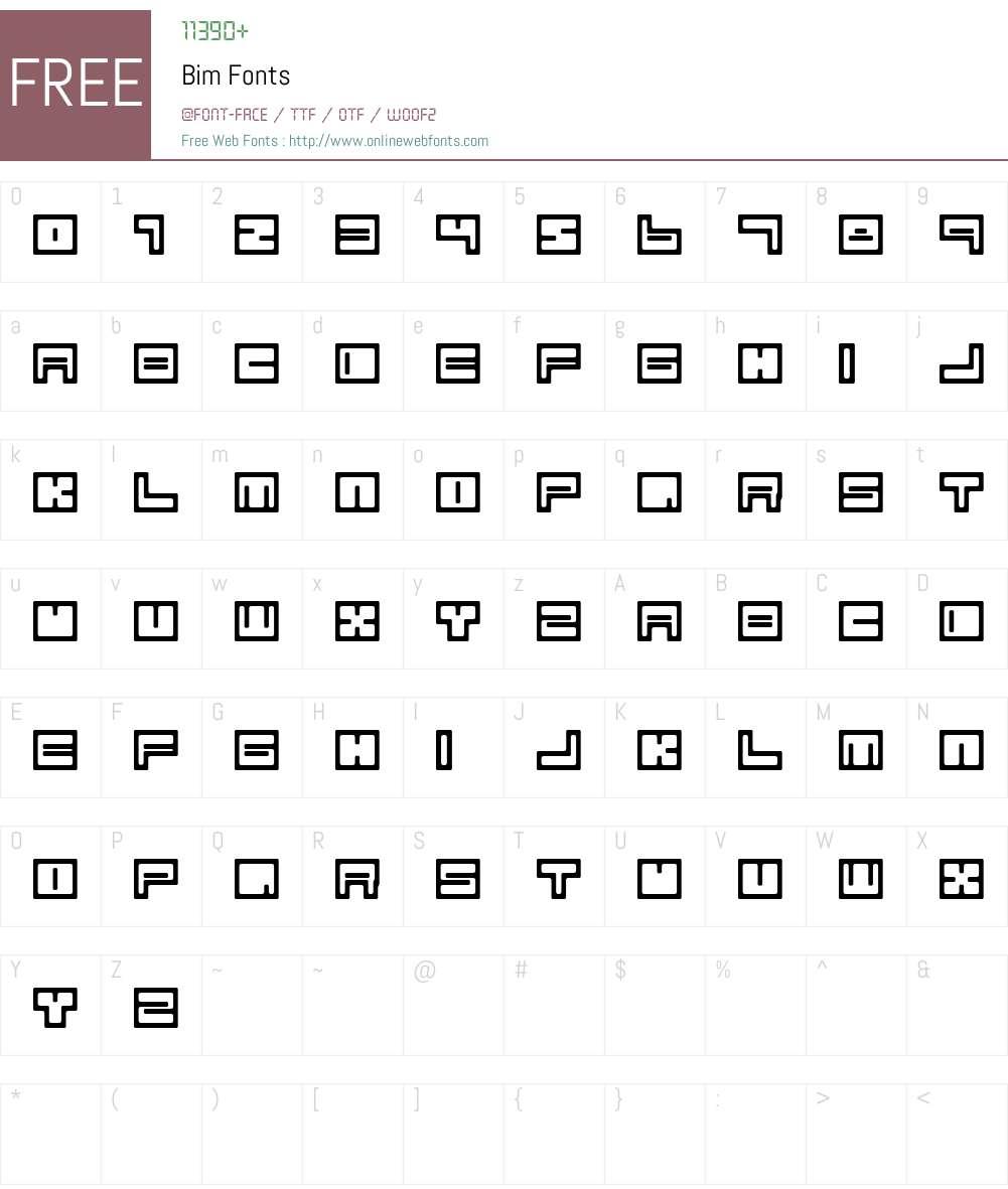 Bim Font Screenshots