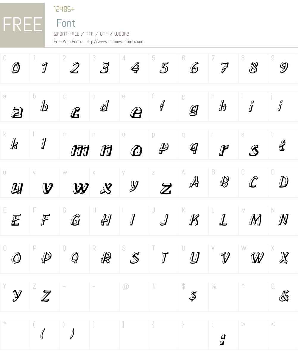 LowEa Italic Font Screenshots