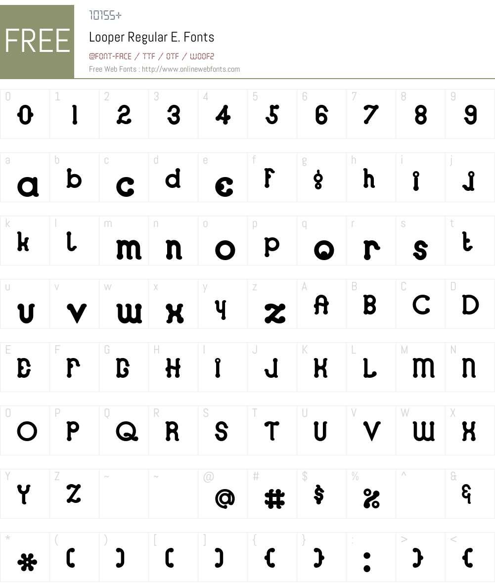 Looper Font Screenshots