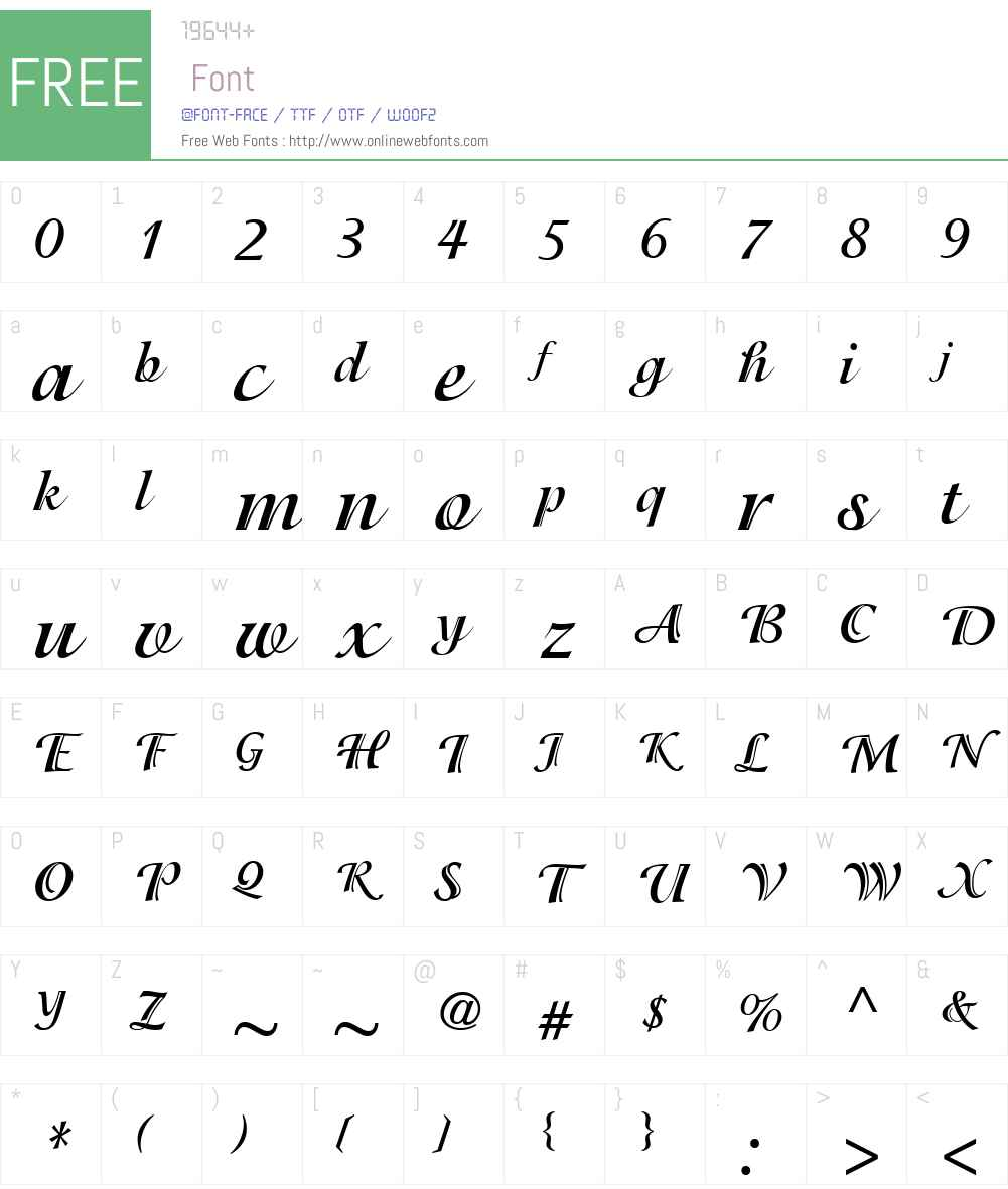 IsadoraITCW01-Bold Font Screenshots